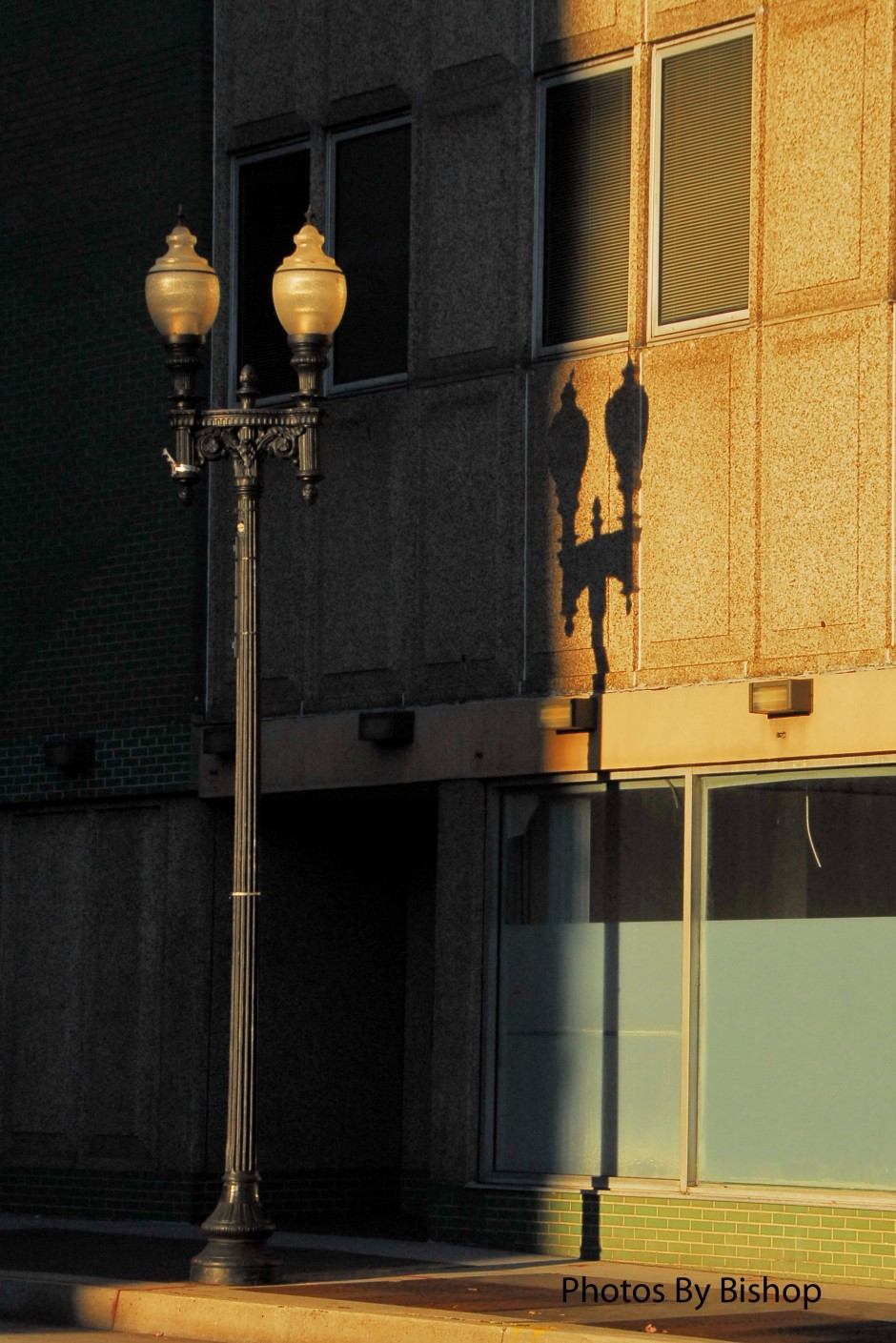 Knoxville, Tennessee evening shadows.