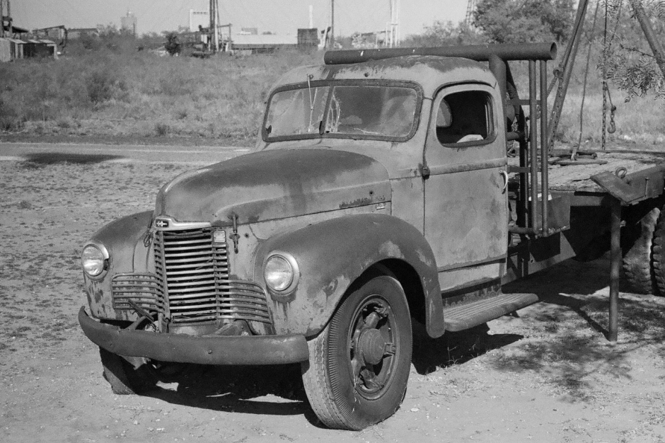 Late 40's vintage International truck