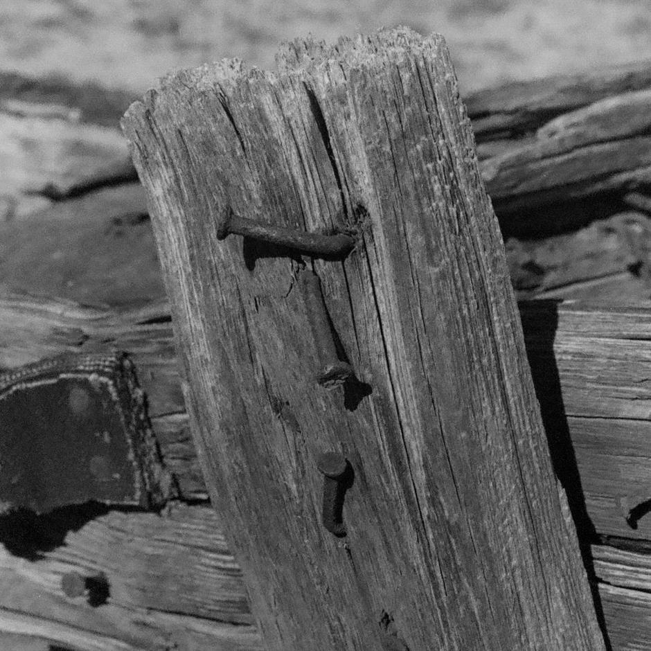 Weathered wood.
