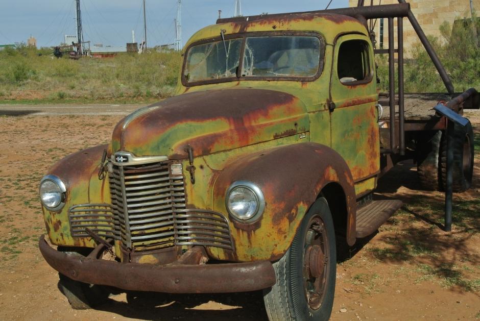 40's vintage oilfield truck
