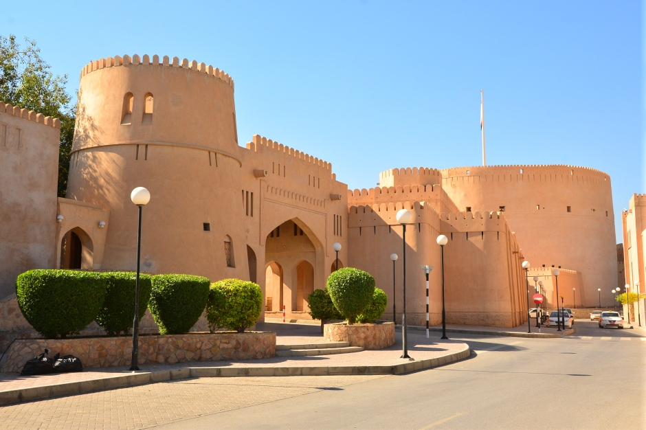 Fort entrance in Nizwa, Oman