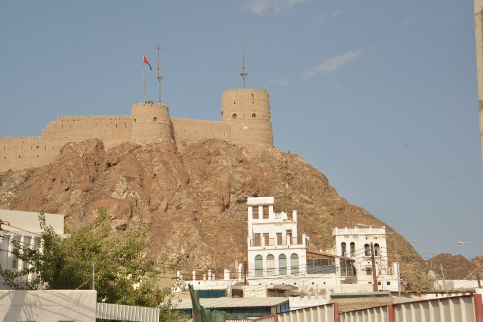 newold Mutrah Fort overlooking the