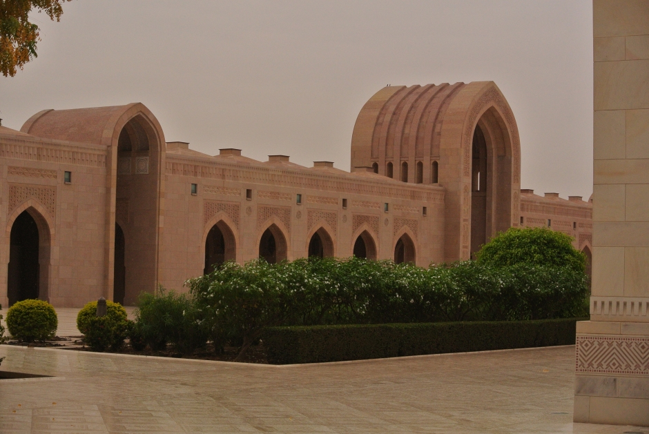 Another view of the architecture of the Grand Mosque area.